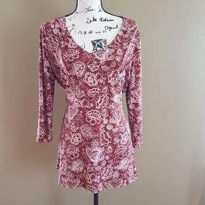 Apostrophe Women's Belted Tunic Top size XL